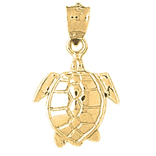 Jewels Obsession Silver Turtles Pendant 14K Yellow Gold-plated 925 Silver Turtles Pendant