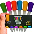 6 LIQUID DROPPERS for CANDY with Warranty and Bonus eBook. Silicone Bulb tip with Plastic 5ml Pipette Dropper for Kids Arts Crafts Paint Jello Gummy Bear Ice and Lego Mold Lovers by MOLDS 4 U