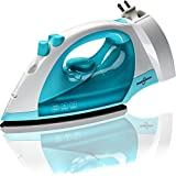Steam Iron 1200 Watt Nonstick Teflon Soleplate Variable Steam Spray Anti-Drip Self-Cleaning System with 8 Feet Retractable Cord