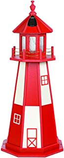 product image for DutchCrafters Decorative Lighthouse - Poly, Cape Henry Style (Cardinal Red/White, 4)