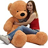 stuffed animals 4 feet - WOWMAX 4 Foot Light Brown Giant Huge Teddy Bear Cuddly Stuffed Plush Animals Teddy Bear Toy Doll 47