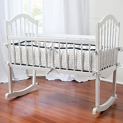 Carousel Designs Navy and Gray Woodland Cradle Bumper