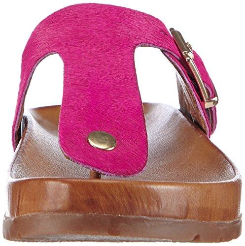 Inuovo 5072 - Chanclas de piel, Mujer Rosa (FUXIA PONY)