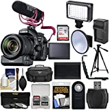 Canon EOS 80D Wi-Fi Digital SLR Camera & EF-S 18-135mm is USM Lens Video Creator Kit + PZ-E1 Zoom Adapter + RODE Mic + 32GB & Case + LED Light + Battery/Charger + Tripod Kit