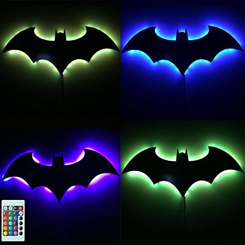 Bat Led Wall Light Colorful Mirror Light Remote Control Projection
