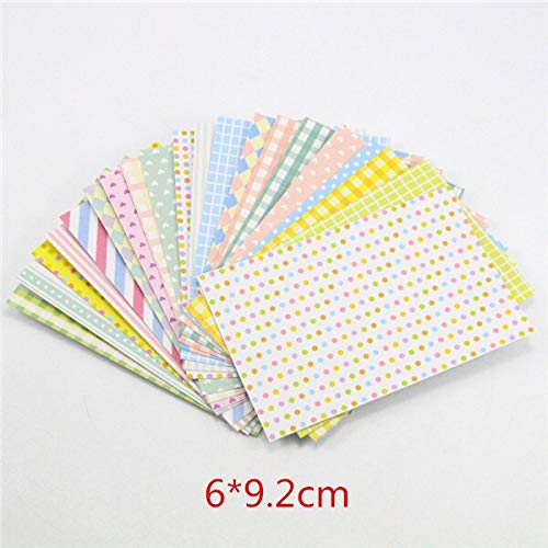 Decorative Paper Adhesive Lucia Crafts 20sheets/lot Colorful Masking Paper Craft Stickers Tape Scrapbooking DIY Stickers for Photo Decoration -