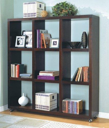 Bookshelf Wall Unit in Cappuccino - Coaster