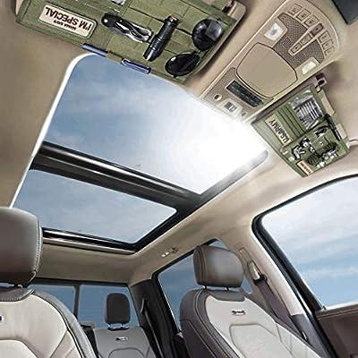Wynex Truck Visor Panel Organizer for Pickup F150 Large Molle Visor Panel Vehicle Tactical Sun Visor Holder Pouch Car Sunshade Storage Bag with 3 Hoop /& Loop Strap Molle Webbing for Ram Tundra 13.8*7