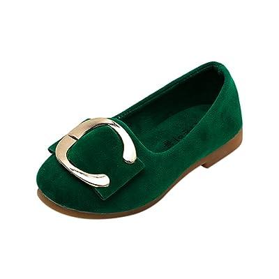 Sunbona Infant Toddler Girls Dance Ballet Flats Princess Mary Jane Slip On Ballerina Loafers Shoes