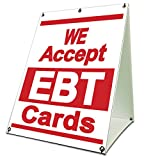 We Accept EBT Cards Sidewalk A Frame 18''x24'' Outdoor Store Retail Sign