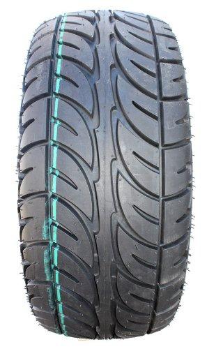 Bundle - 9 Items: Fairway Alloys Flex Blk Golf Wheels 14'' Fusion 205x30-14 Tires [for E-Z-GO & Club CarGolf Carts] by Powersports Bundle (Image #2)