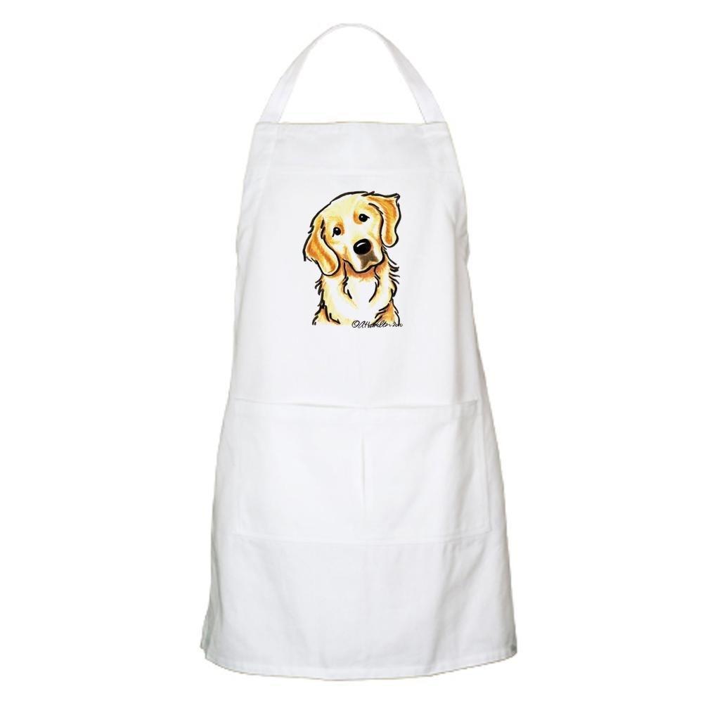 Kitchen Apron with Pockets CafePress Golden Retriever Portrait Apron