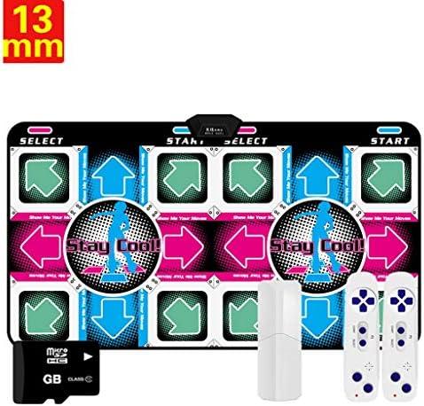 最高の贈り物 有線ダンサーは68のゲームダンスマットのために子供と大人のPVCホームPCのテレビデュアルインタフェースヨガ減量フィットネスマット、母の日ギフトをブランケット -ミュージカルダンスマット (Color : Silver eight key, Size : 13mm)