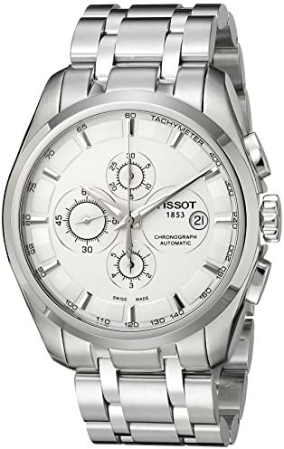 Tissot Men s T0356271103100 Couturier Analog Display Swiss Automatic Silver Watch