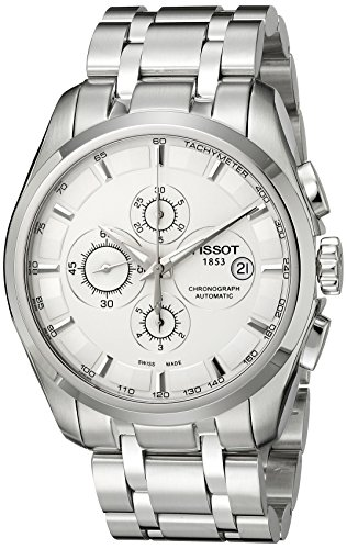 Tissot Mens T0356271103100 Couturier Analog Display Swiss Automatic Silver Watch