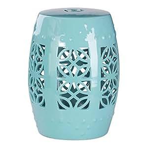 Abbyson Living Chelsea de cerámica jardín taburete en Robbins huevo