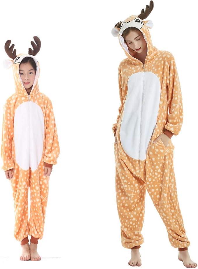 con cappuccio costume da animale per Halloween cosplay Beinou scuola pigiama a forma di unicorno per bambini
