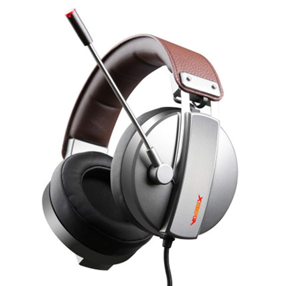Sonmer XIBERIA S22 3.5mm Wire Over-Ear Gaming Headset For PC / PS4/ Laptop/MAC,With High-precision 50mm Audio Speaker Driver,with Volume Control Noise Canceling -Silver