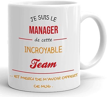 Humour Boss Travail Homme Original Tasse Personnalisée Mug C/'est Qui Le Patron