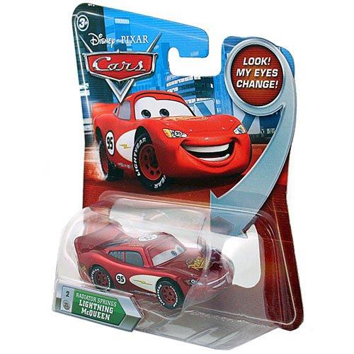 Disney / Pixar CARS Movie 155 Die Cast Car with Lenticular Eyes Series 2 Radiator Springs Lightning McQueen