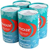 Pack of 4 Snoooze Natural and Herbal Supplement Sleep Drink Regular Strength with Valerian, Passionflower, Linden Flower, and Lemon Balm, 4.6 FL OZ