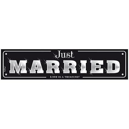 Hochzeit & Liebe Cartel Just Married para Soportes para ...