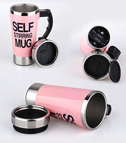 Self Stirring Mug (Pink) - 8