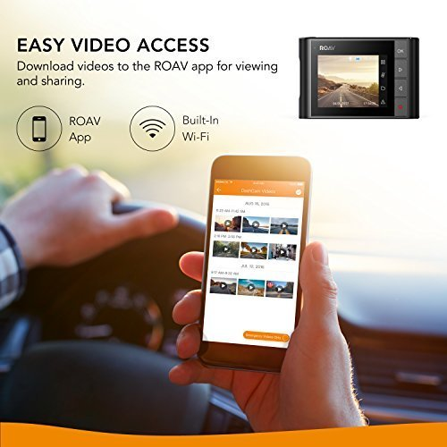 Roav-DashCam-A1-by-Anker-Dash-Cam-Dashboard-Camera-Recorder-1080P-FHD-Nighthawk-Vision-Wide-Angle-View-WiFi-G-Sensor-WDR-Loop-Recording-and-Night-Mode