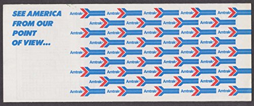 Come See America From Our Point of View Amtrak Railroad ticket wrapper 1982