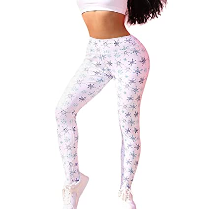 27362e2d84 Amazon.com: High Waisted Yoga Pants, Women Snowflake Printed Workout Gym  Leggings Fitness Sports Running Tights Yoga Athletic Pants: Home & Kitchen