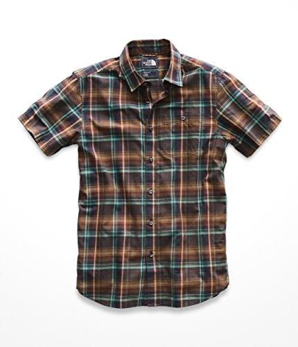 The North Face Men's S & S Hayden Pass Woven Shirt - Bracken Brown Hubert Plaid - XL