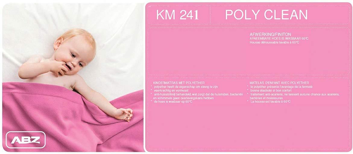 ABZ KM241-120 Kindermatratze Polyetherschaum Doppelgewebe D25 60 x 120 x 11 cm wei/ß
