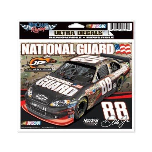 Dale Earnhardt Jr. NATIONAL GAURD #88 CAR Static Cling Reusable Car Truck - Driving Dale Earnhardt Jr