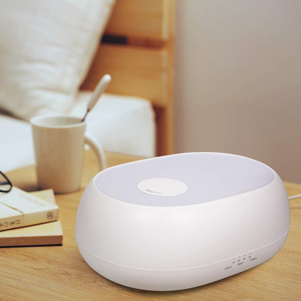 Latitop Humidificador Aroma Diffuser 1L Cool Mist Humidifier Ultrasónico Para Oficina Con 7 Luz Nocturna, Niveles De Niebla Ajustables, Temporizador, Apagado Automático Sin Agua