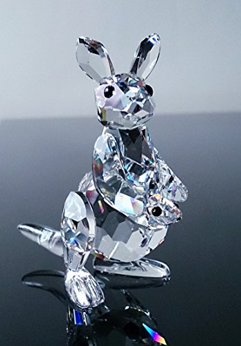 - Swarovski Mother Kangaroo with Baby Joey Rare Encounters Series Retired Crystal Figurine with Box and Certificate Mint Condition