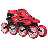 Ferrari FS81 Speed Skate Carbon Fiber Inline Skate Racing Skate Size 41 For Adults X Sports