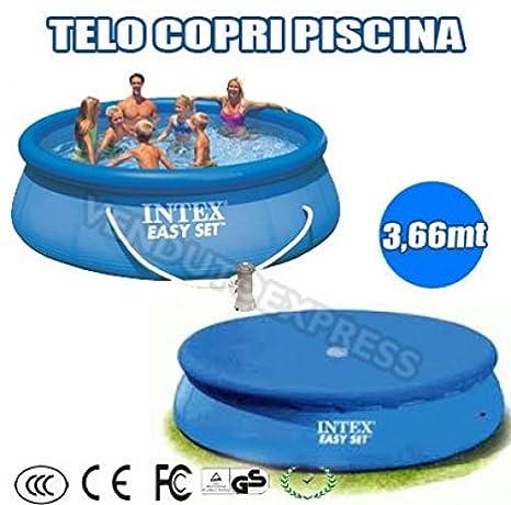 Toalla, para piscina, Intex, redondo, 366 cm, mantenimiento, limpieza, Cubierta: Amazon.es: Jardín