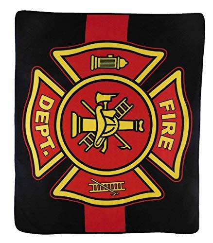 MWS Wholesale (6) Fire Department Red Line 50x60 Polar Fleece Blanket Throw Plush