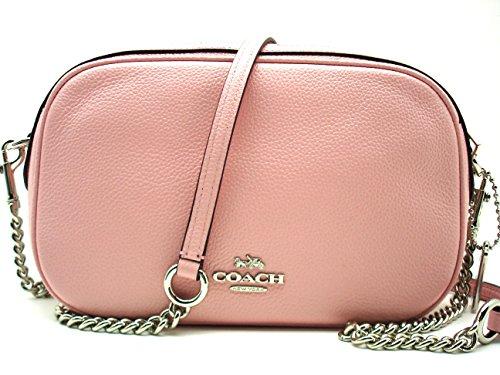 Handbag Pebbled Leather Womens Crossbody Coach Bag Isla with Blush Chain SHqRxw