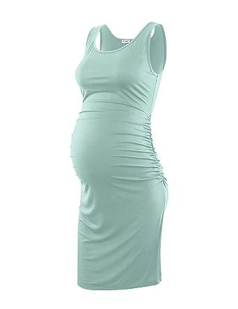 Maternity Dress Tank Dresses Mama Bodycon Wrap Dresses Vestido Plus Size Baby Shower Work Sage S