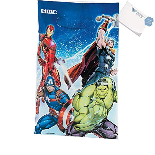 Bargain World Marvel Avengers Goody Bags (With Sticky Notes)
