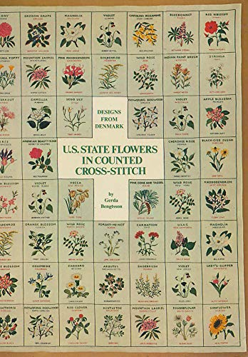 U. S. State Flowers in Counted Cross