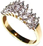 Ah! Jewellery 24ct Cluster Gold Filled High Quality Ring. Stamped GL. 2.70g. Will Never Tarnish!