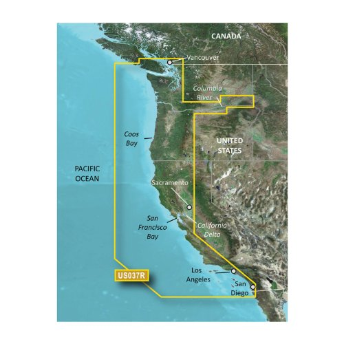 Garmin Bluechart G2 VUS037R Vancouver San Diego Vision microSD Card Maps