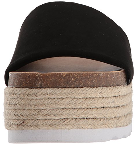 Dirty Laundry Women's Pippa Espadrille Wedge Sandal, Parent Black Suede