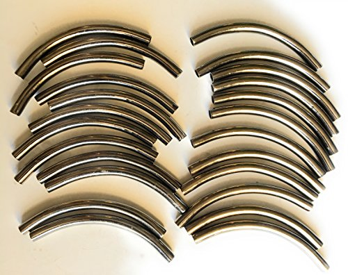 24 Silver Tube Spacer - Silver Tubing,Jewelry, Handbag Making 1/4'' x 5.5''(6x135mm Gold) -