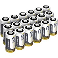 CR123A Lithium Batteries,18 Pcs Keenstone Disposable High Performance Non-Rechargeable Primary Batteries for Flashlight Photo Digital CameraToys Torch (Not Compatible with Arlo Cameras)