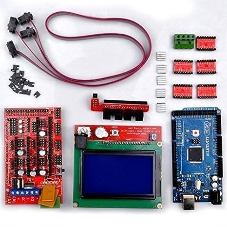 K17 controlador de impresora 3d Kit Mega 2560 R3 + RAMPS 1.4 + 5 ...