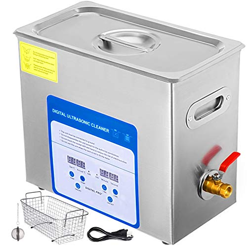 - Mophorn 6L Professional Ultrasonic Cleaner 380W 304&316 Stainless Steel Digital Lab Ultrasonic Cleaner with Heater Timer for Jewelry Watch Glasses Circuit Board Dentures Small Parts Dental Instrument