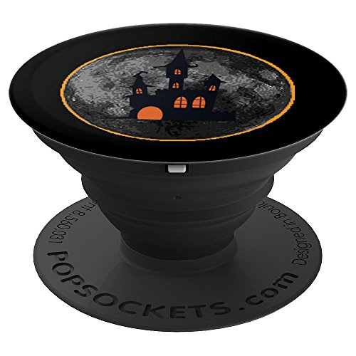 Scary Spooky Castle Halloween Moon Eclipse PopSocket Grip - PopSockets Grip and Stand for Phones and Tablets]()